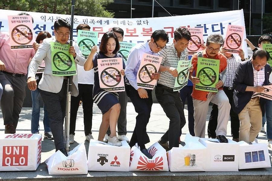 Nhật - Hàn căng thẳng cao độ, người dân cũng tham gia chiến tranh thương mại