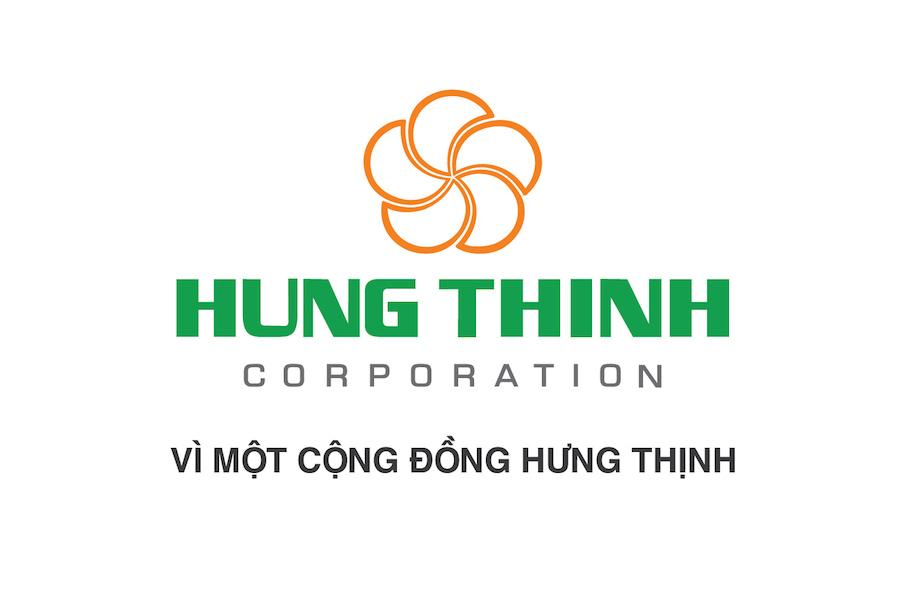 Logo, slogan Tập đoàn Hưng Thịnh là tập đoàn bất động sản uy tín hàng đầu thị trường với 18 năm kinh nghiệm