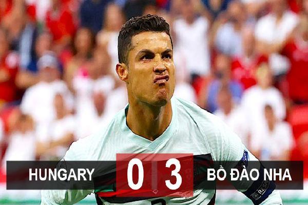 Kết quả Hungary 0-3 Bồ Đào Nha: Ronaldo đi vào lịch sử, Bồ Đào Nha khởi đầu thắng lợi