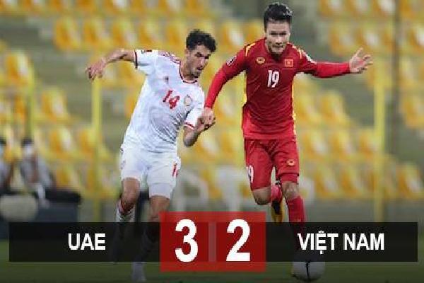 Kết quả UAE 2-3 Việt Nam: ĐT Việt Nam vào vòng loại thứ ba World Cup 2022
