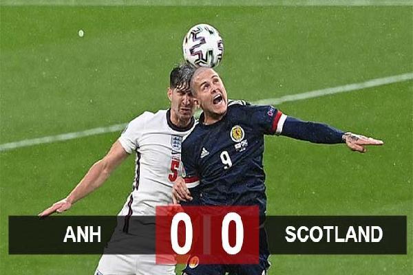 Kết quả Anh 0-0 Scotland: Tam sư chia điểm nhạt nhẽo